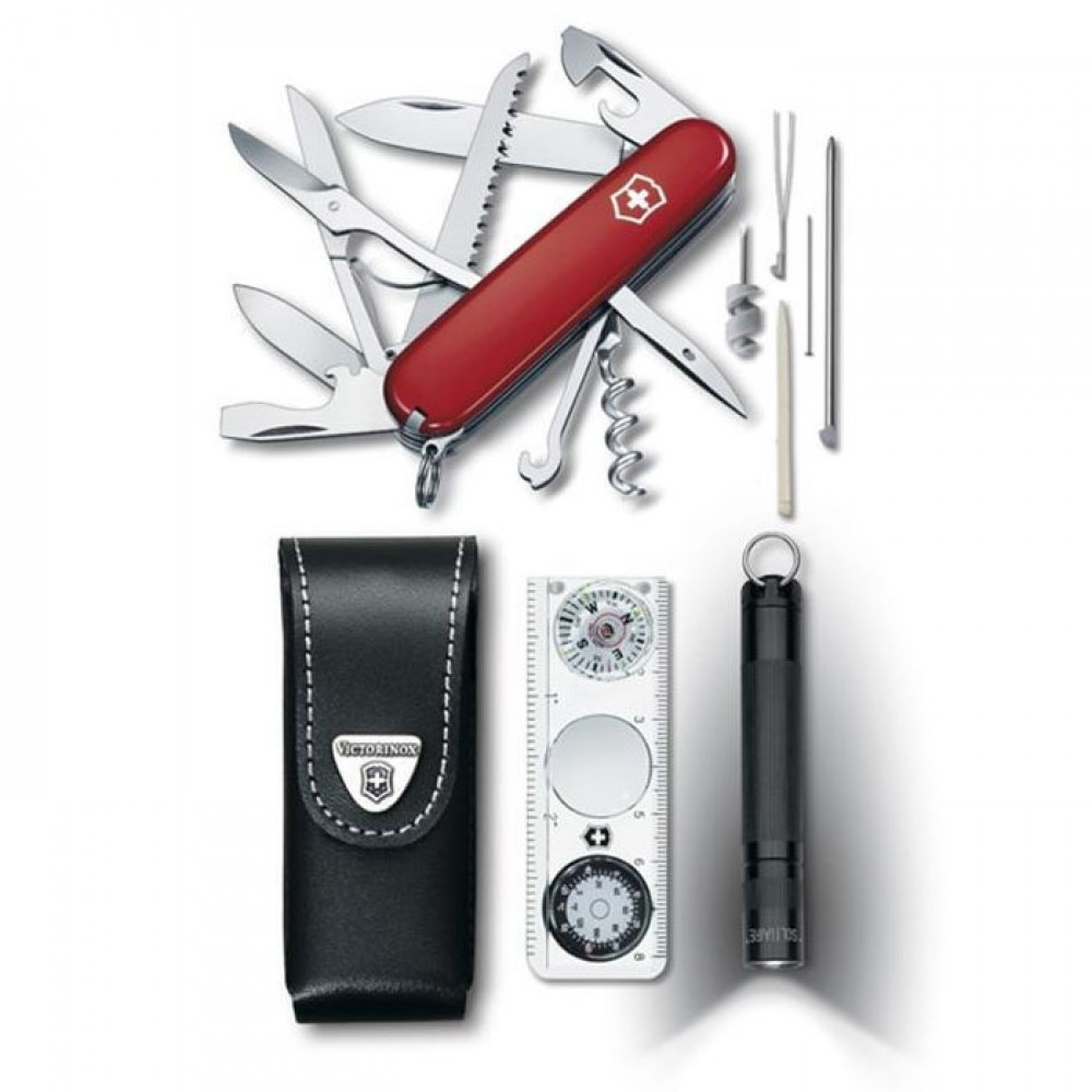 Victorinox 1.8726 Traveller Set (нож+фонарь+компас+чехол)