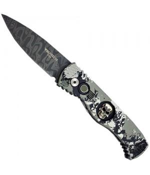 Нож Pro-Tech TR-2 Skull Damascus PK Tactical Response 2