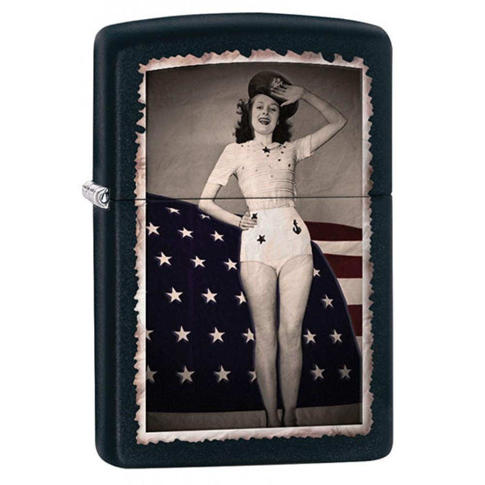 Zippo 28533 Flag & Woman