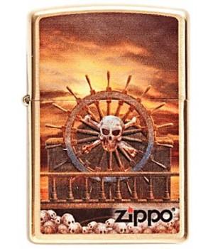Zippo 204B Skull Steering Wheel