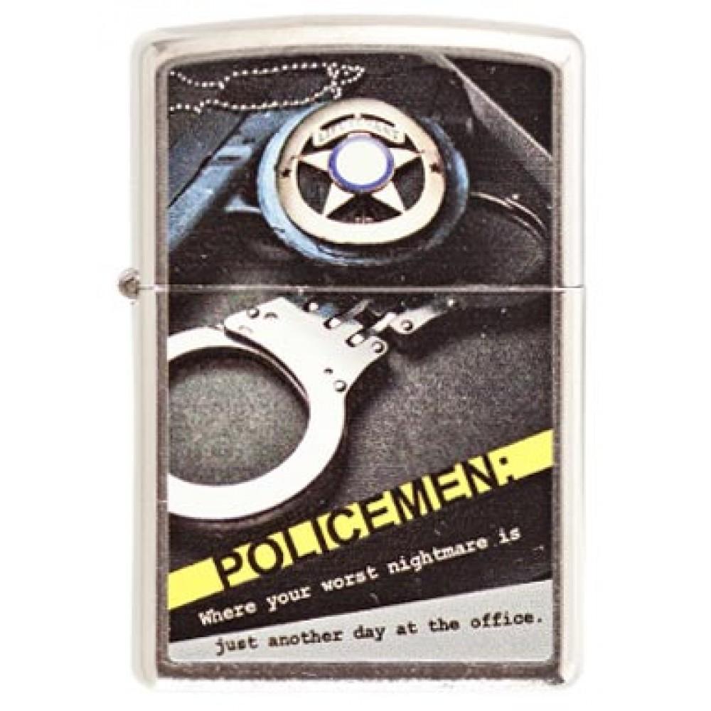 Zippo 28279 Police Badge Gun Hand