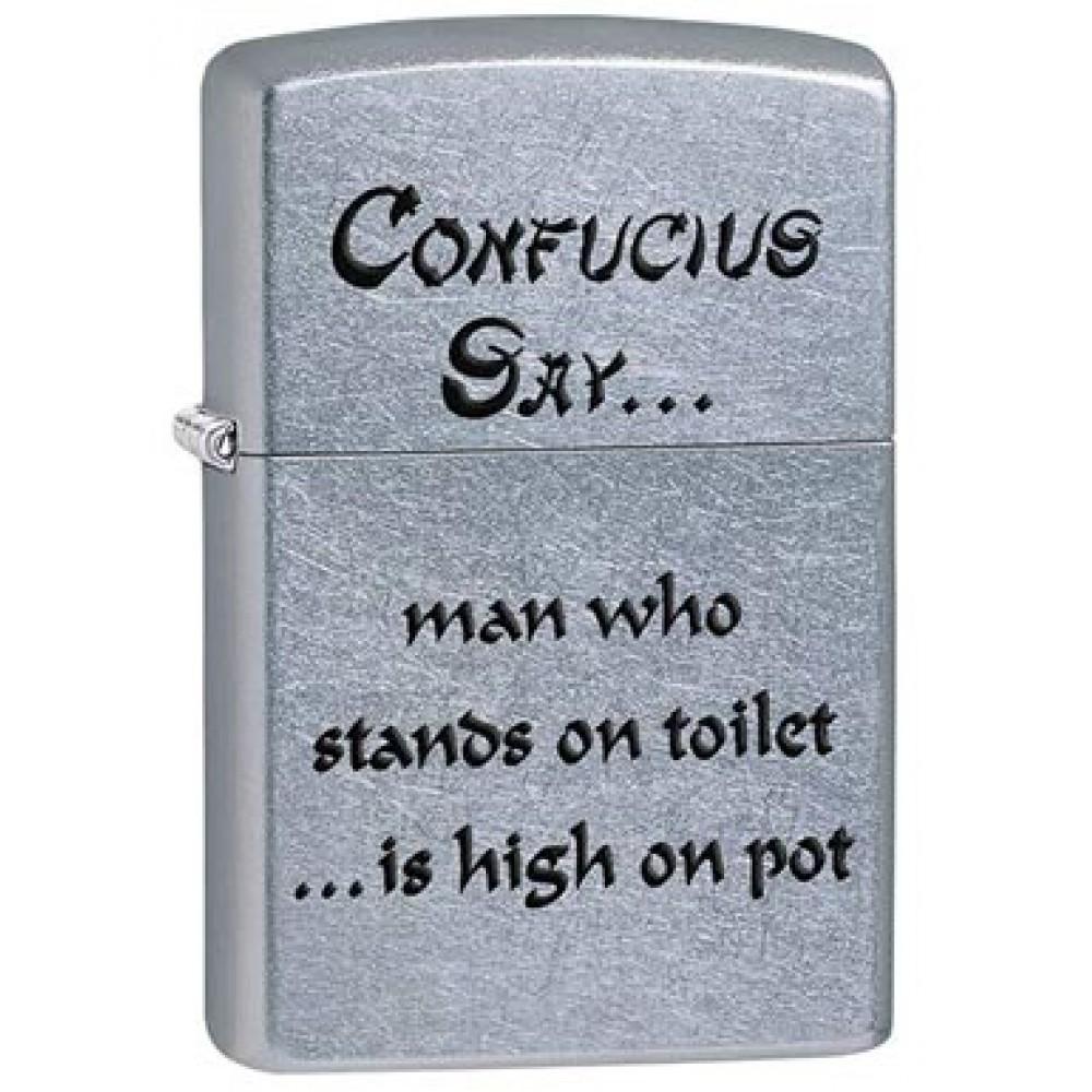 Zippo 28459 Confucius Say Man Pot