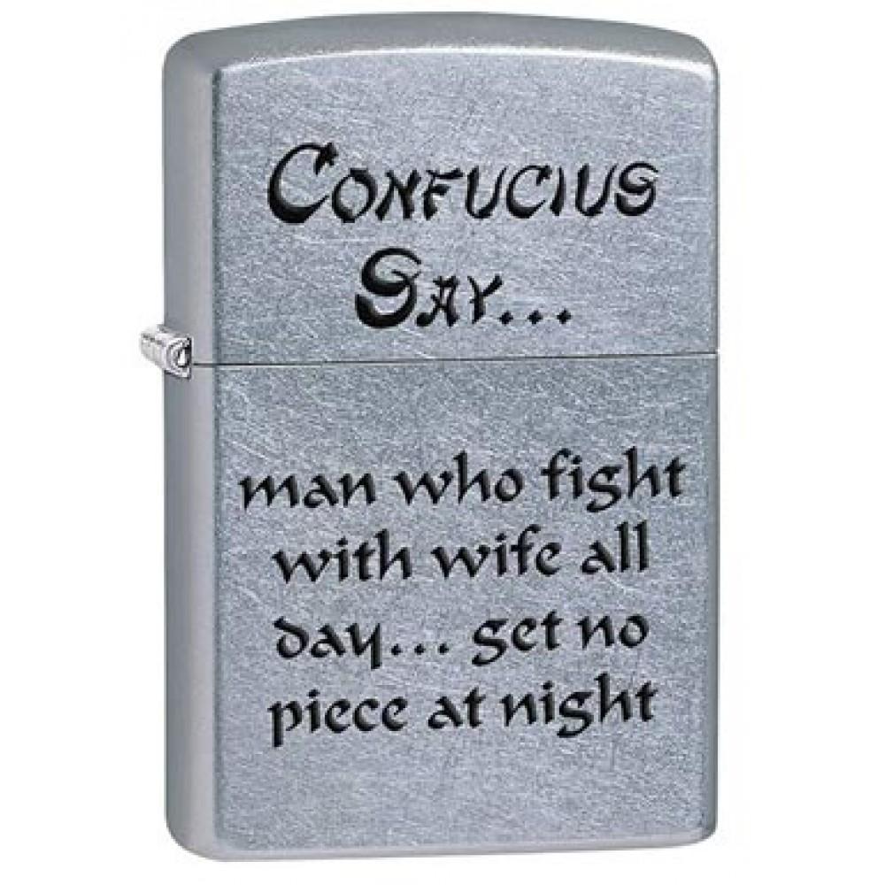 Zippo 28460 Confucius Say Wife Night